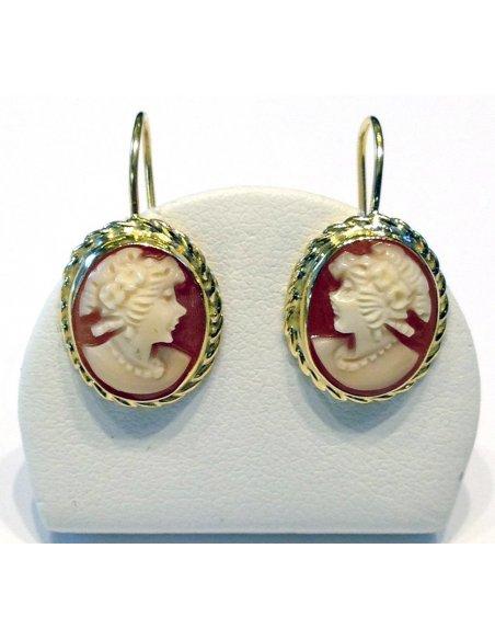 Italian Cameos Dangle Earrings