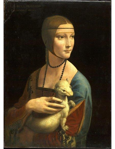 Dama con Ermellino Cammeo Oro