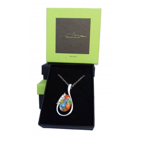 Millefiori Murano Glass Necklace Murrina