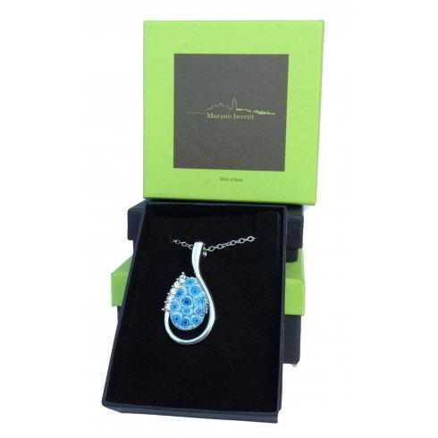 Millefiori Murano Glass Necklace Murrina