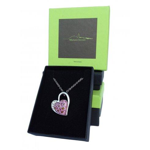 Murrina Heart Murano Glass Necklace