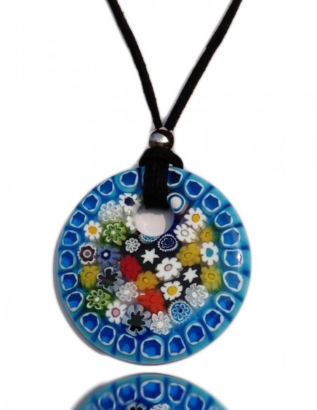 Millefiori Antica Murrina Murano Glass Necklace