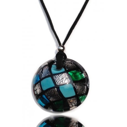 Mosaic Antica Murrina Murano Glass Necklace