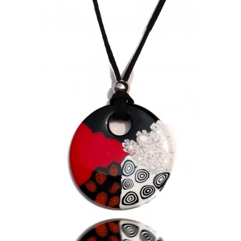 Murano Glass Necklace Arlecchino Murrina