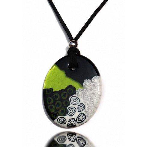 Murano Glass Necklace Arlecchino Murrina
