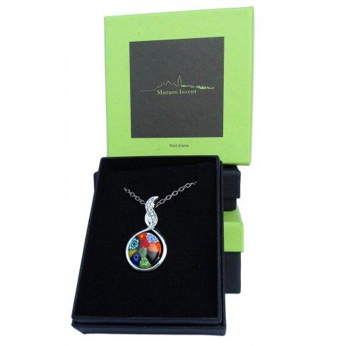 Murano Glass Necklace Murrina Round