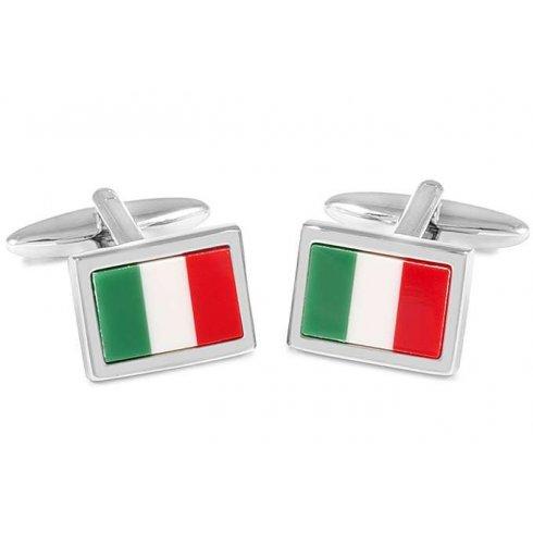 Cufflinks Italian Flag Men