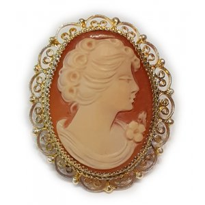 Antique Art deco Cameo brooch