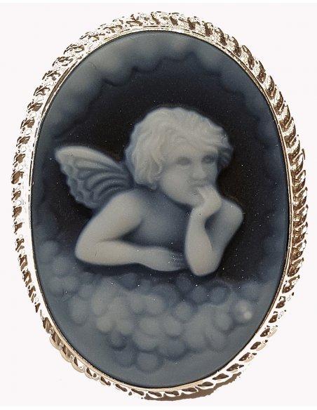 Guardian Angel Blue Cameo