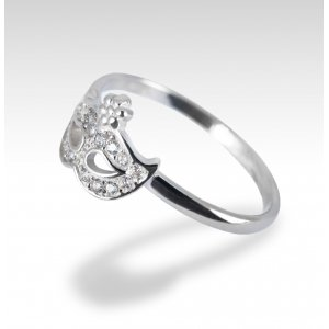 MASK SILVER RING ZIRCONIA DIAMOND VENETIAN CARNIVAL
