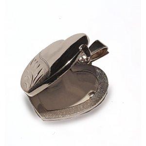 Silver locket Heart Shape necklace