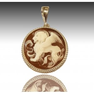 Cameo Venice Winged Lion Pendant