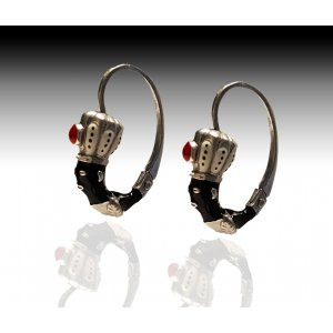 Blackamoor Earrings Silver Jewelry