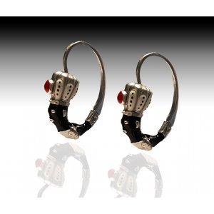 Moretto orecchino veneziano argento