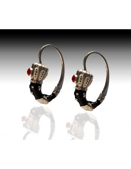 Blackamoor earrings Silver
