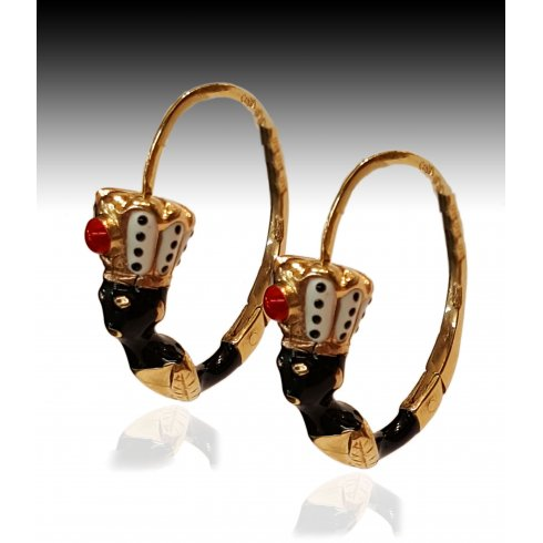 Blackamoor Jewelry Earrings Gold