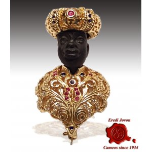 Blackamoor Brooch Jewelry Silver Gold Plated