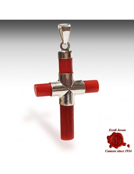 Cross Red Italian Coral