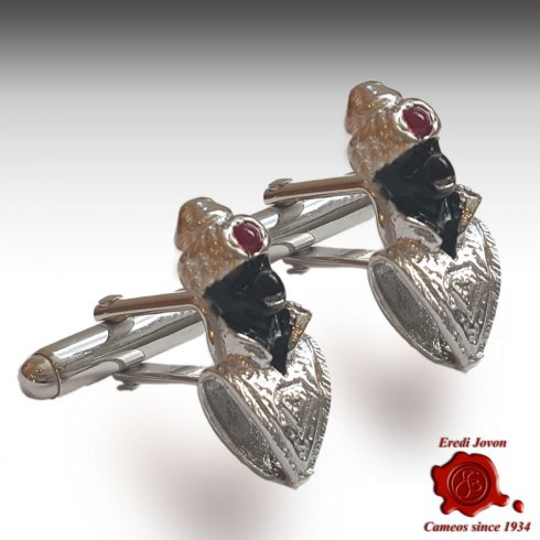 Blackamoor Cufflinks Silver Jewellery