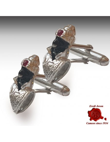 Blackamoor Cufflinks Silver