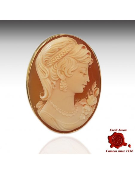 Antique Cameo Brooch Pendant Gold