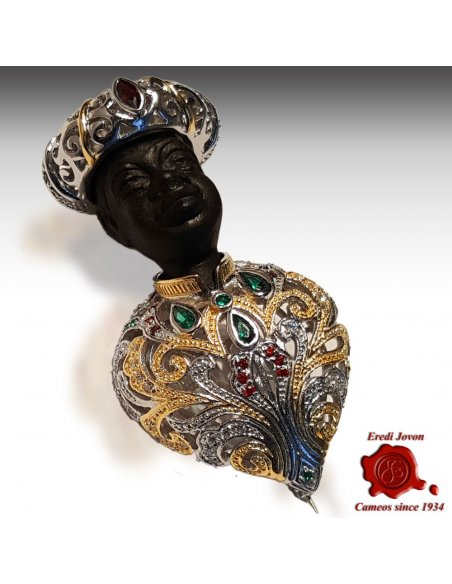 Antique Blackamoor Pin for Sale
