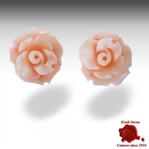 Orecchini Rose Corallo Rosa