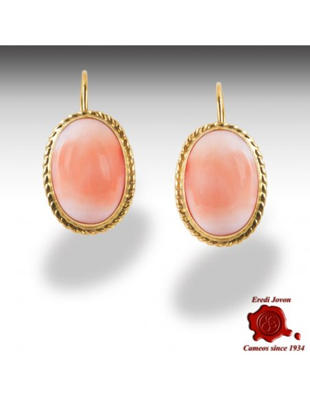 Pink Angel Skin Coral Earrings