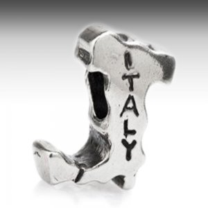 Boot of Italy charm for Pandora in silver