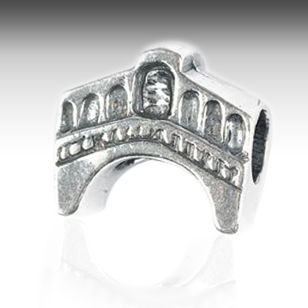 Rialto Bridge Monument Charm Silver