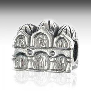 St. Mark basilica monument charm silver
