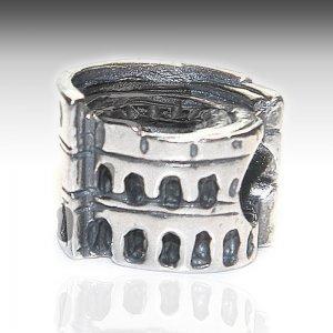 Roman Coliseum Charm Pandora Compatible in silver