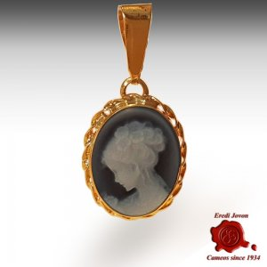 Venice gold cameo necklace