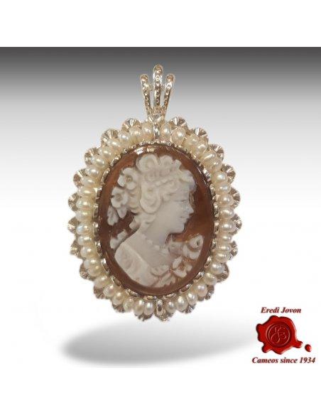 Cameo with Pearl Sardonyx Silver