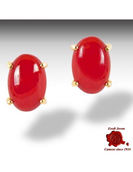 Corallo Rosso Orecchino Oro Griffe