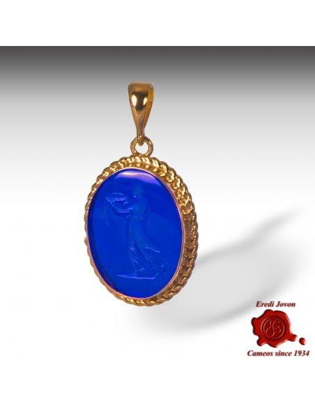 Venetian Glass Intaglio Blu Vestale