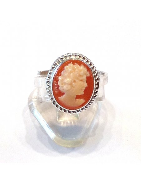 Shell Cameo Silver Ring