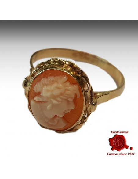 Shell cameo gold Ring