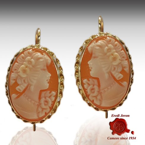 Italian Cameos Earrings