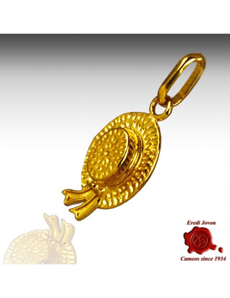 Gondolier Hat Gold Charm