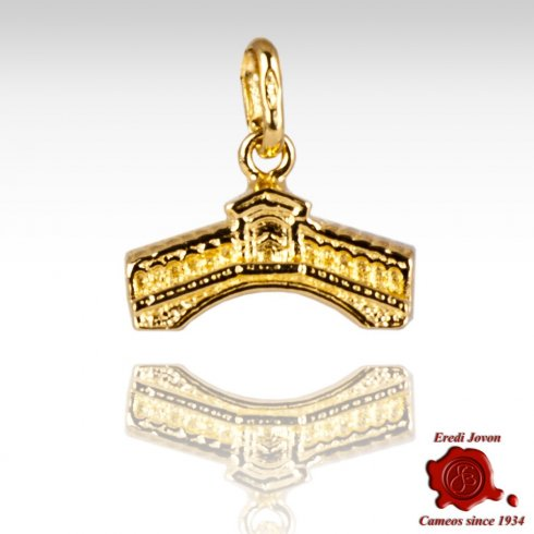 Rialto Bridge Yellow Gold Charm