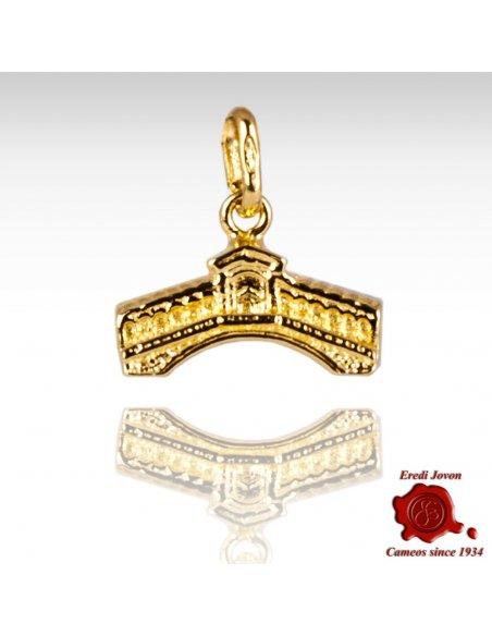 Charm Ponte di Rialto in Oro Giallo