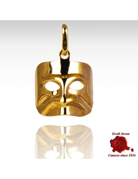 Ciondolo Maschera Casanova Oro