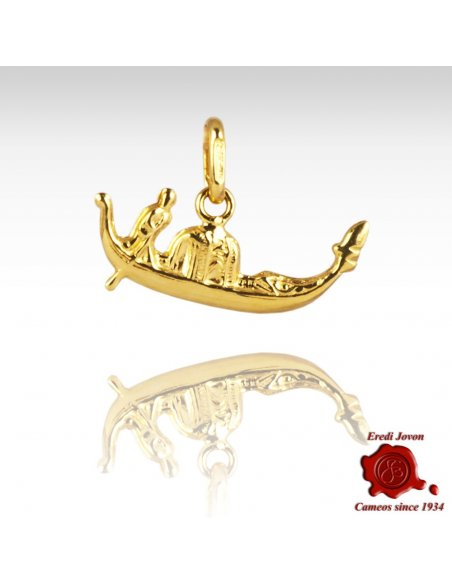 Gondola Shape Charm in Gold