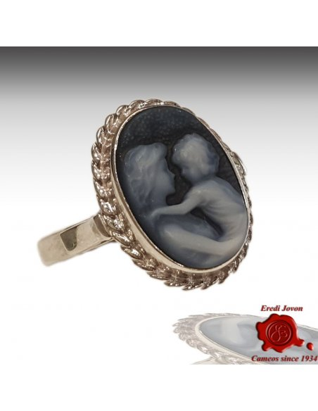 Mother with Baby Cameo Ring