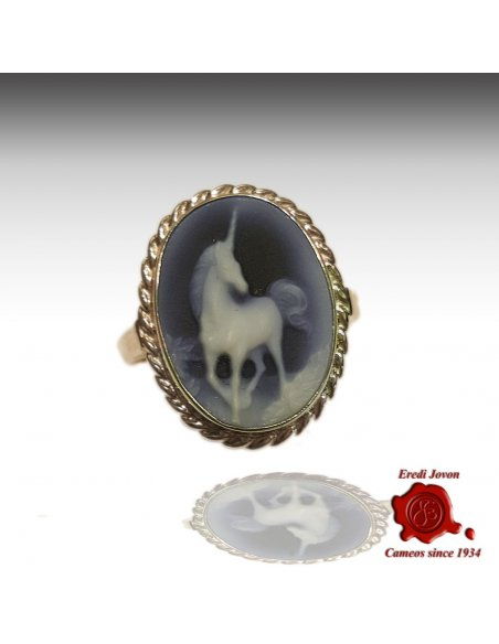 Unicorn Cameo Ring
