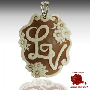 Alphabet Cameos, Letter Cameo, Initials, Monograms or Pendant or cufflinks