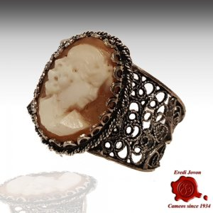 Filigree Ring Cameo