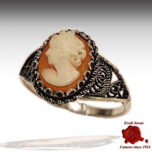 Filigree Cameo Ring