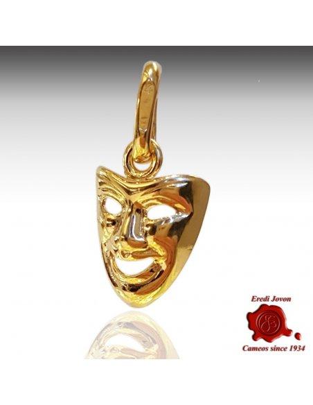 Charm Maschera Commedia Oro Giallo